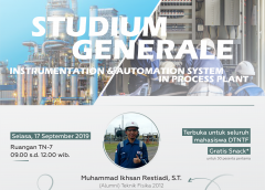 Studium Generale: Instrumentation & Automation System in Process Plant